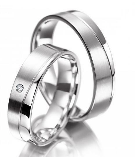 Snubní prsteny z chirurgické oceli OC1124