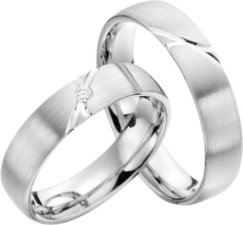 Snubní prsteny z chirurgické oceli OC1126