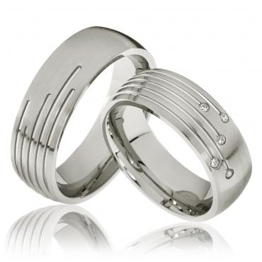 Svatební prstýnky z chirurgické oceli OC1127