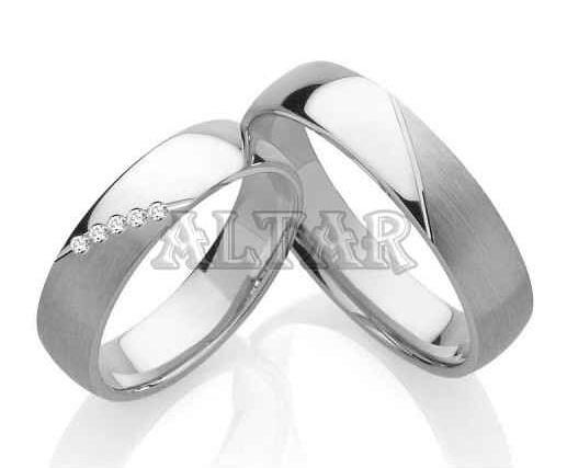 Stříbrné snubní prsteny ST1089