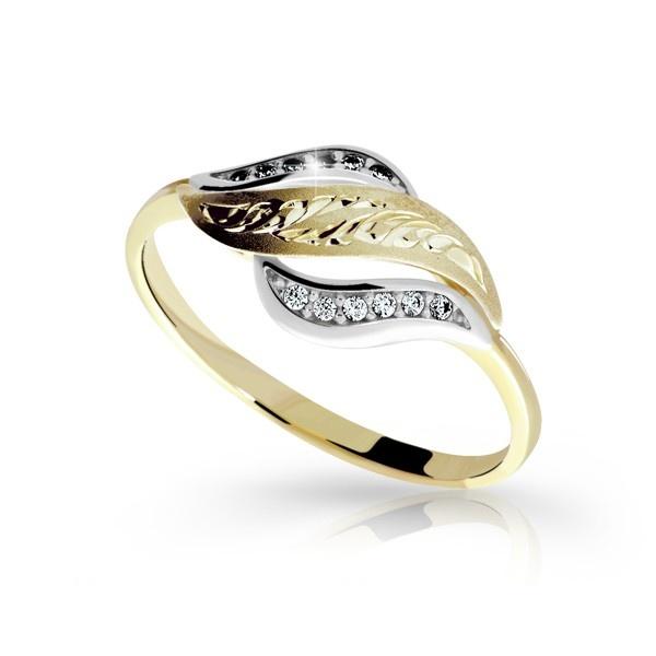 Zlatý dámský prsten DF 2982 (Rytí zdarma)