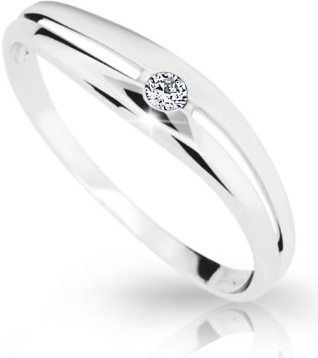 Dámský prsten s diamantem DF1661 (Rytí zdarma)