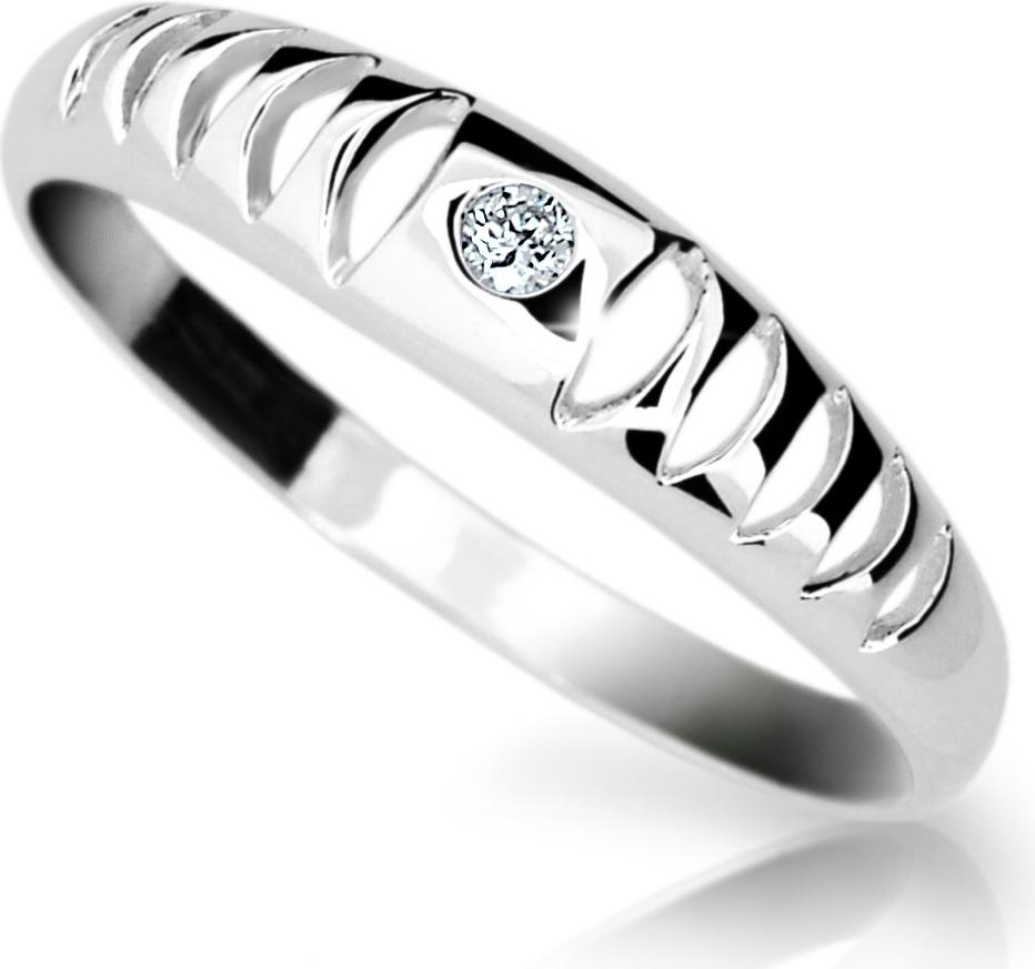 Zlatý prsten s Briliantem Danfil DF1282 (Rytí zdarma)