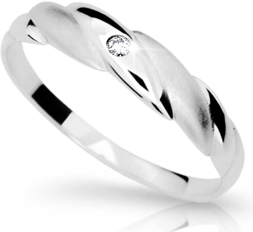Dámský prsten s diamantem DF1880 (Rytí zdarma)