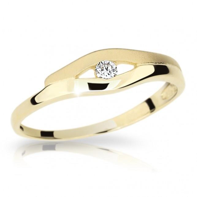 Zlatý prsten DF 1745 ze žlutého zlata (Rytí zdarma)