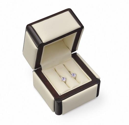 Dřevěná dárková krabička na snubní prsteny RB-2/NA