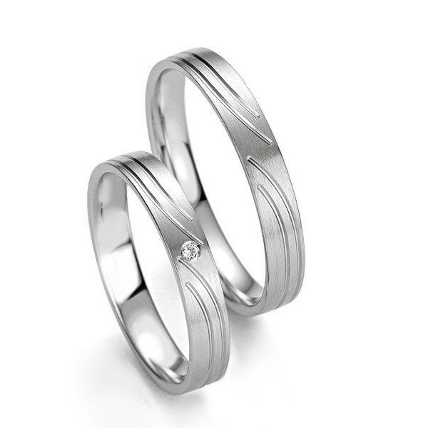 Stříbrné snubní prsteny ST1132