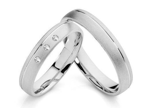 Stříbrné snubní prsteny ST1133