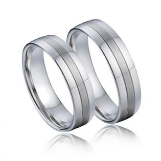 Snubní prsteny chirurgická ocel - pár NSS1000