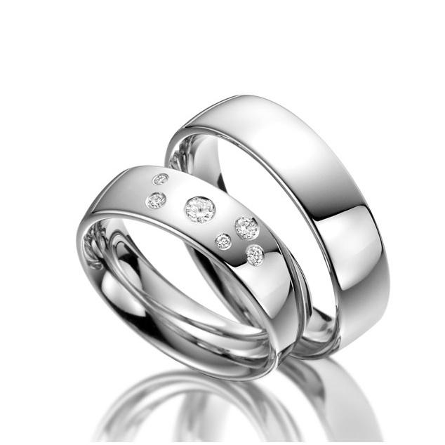 Snubní prsteny z chirurgické oceli OC1132