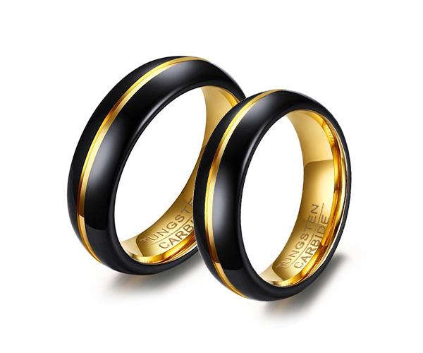 Wolframové snubní prsteny R-TU-122