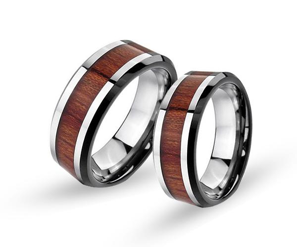 Wolframové snubní prsteny R-TU-123