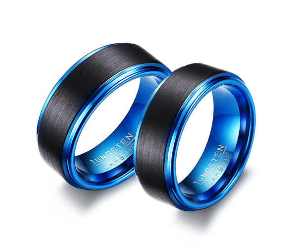 Wolframové snubní prsteny R-TU-127