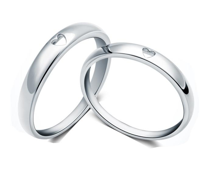 Stříbrné snubní prsteny ST1134