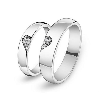 Stříbrné snubní prsteny ST1135