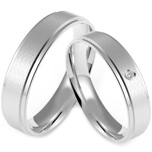 Stříbrné snubní prsteny ST1136