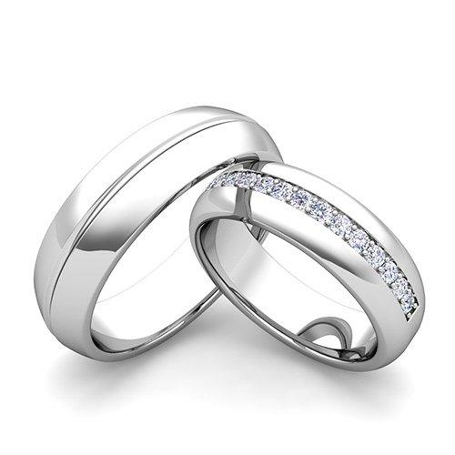 Stříbrné snubní prsteny ST1137