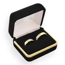 Sametová dárková krabička na snubní prsteny CD-3/A25