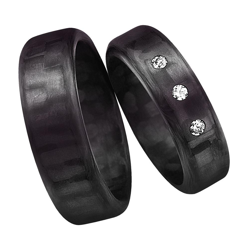 Snubní prsteny z karbonu CR230-6
