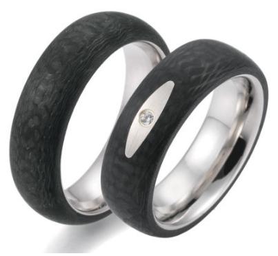 Karbonove Snubni Prsteny S Oceli Ca0001