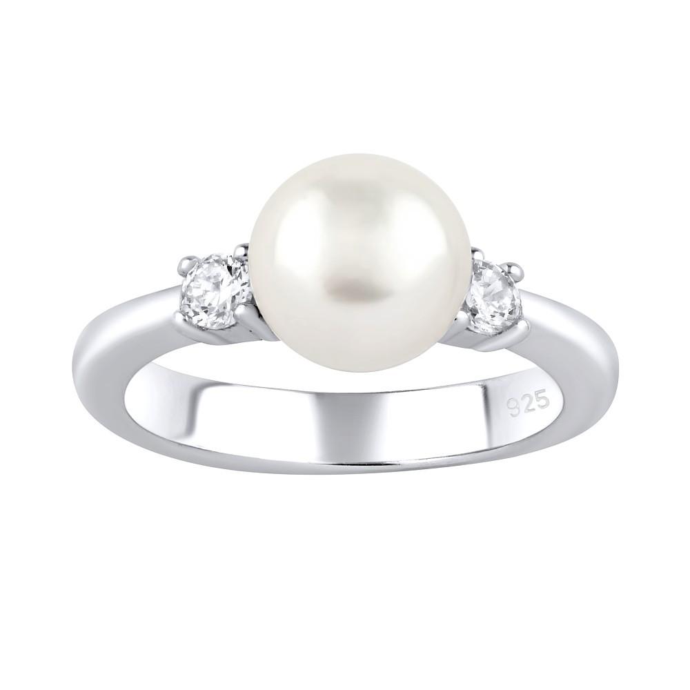 Stříbrný prsten MAYA s pravou přírodní perlou