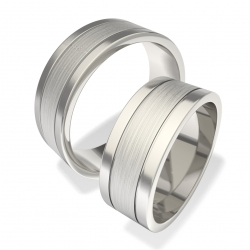 Snubní prsteny z chirurgické oceli 7008 (Snubní prsteny 7008)