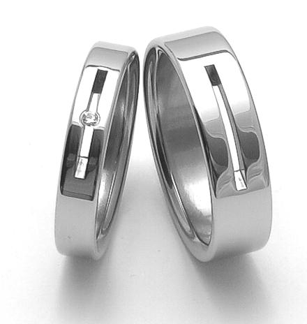 Snubní prsteny z chirurgické oceli ZERO Collection rz04045+rz86010 (Snubní prsteny ZERO Collection rz04045+rz86010)
