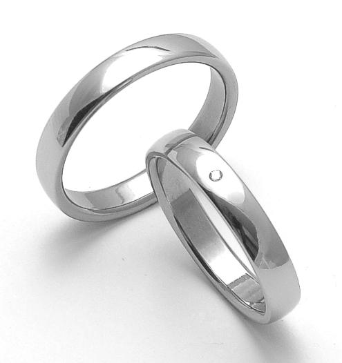 Snubní prsteny z chirurgické oceli ZERO Collection rz14000+rz14001 (Snubní prsteny ZERO Collection rz14000+rz14001)