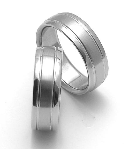 Snubní prsteny z chirurgické oceli ZERO Collection rz17007+rz17007 (Snubní prsteny ZERO Collection rz17007+rz17007)