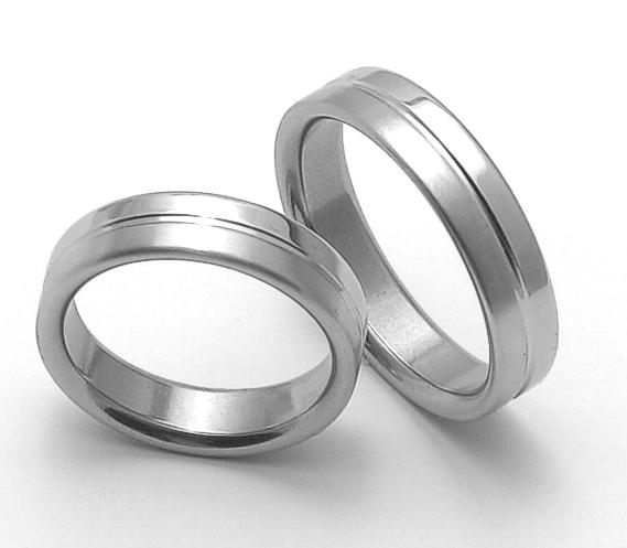 Snubní prsteny z chirurgické oceli ZERO Collection rz85118+rz85118 (Snubní prsteny ZERO Collection rz85118+rz85118)