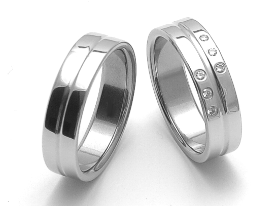 Snubní prsteny z chirurgické oceli ZERO Collection rz86118+rz06118 (Snubní prsteny ZERO Collection rz86118+rz06118)