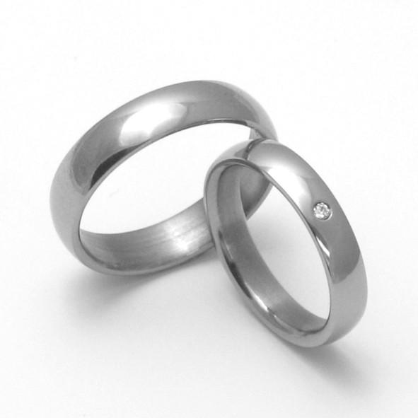 Snubní Titanové prsteny ZERO Collection TTN0101+TTN0103 (Snubní Titanové prsteny ZERO Collection TTN0101+TTN0103)