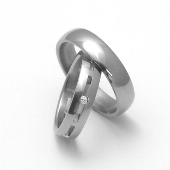 Snubní Titanové prsteny ZERO Collection TTN0101+TTN2302 (Snubní Titanové prsteny ZERO Collection TTN0101+TTN2302)