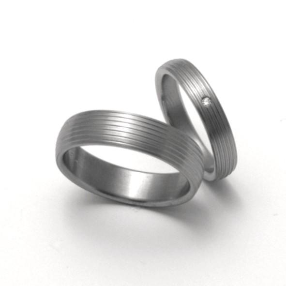 Snubní Titanové prsteny ZERO Collection TTN0601+TTN0603 (Snubní Titanové prsteny ZERO Collection TTN0601+TTN0603)