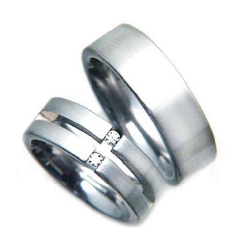Snubní prsteny z chirurgické oceli TR77220R7 (Snubní prsteny TR77220R7)