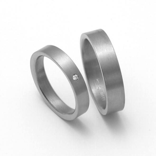 Snubní Titanové prsteny ZERO Collection TTN0701+TTN0702 (Snubní Titanové prsteny ZERO Collection TTN0701+TTN0702)