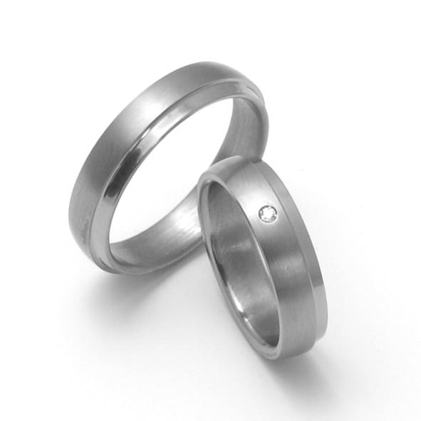 Snubní Titanové prsteny ZERO Collection TTN0801+TTN0803 (Snubní Titanové prsteny ZERO Collection TTN0801+TTN0803)