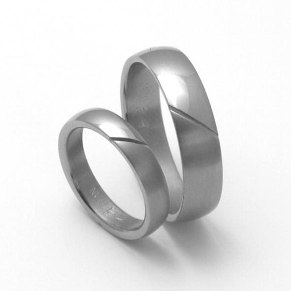 Snubní Titanové prsteny ZERO Collection TTN1201+TTN1202 (Snubní Titanové prsteny ZERO Collection TTN1201+TTN1202)