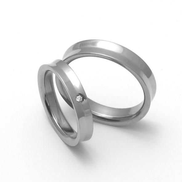 Snubní Titanové prsteny ZERO Collection TTN1401+TTN1403 (Snubní Titanové prsteny ZERO Collection TTN1401+TTN1403)
