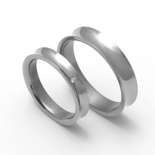 Snubní Titanové prsteny ZERO Collection TTN1501+TTN1503 (Snubní Titanové prsteny ZERO Collection TTN1501+TTN1503)