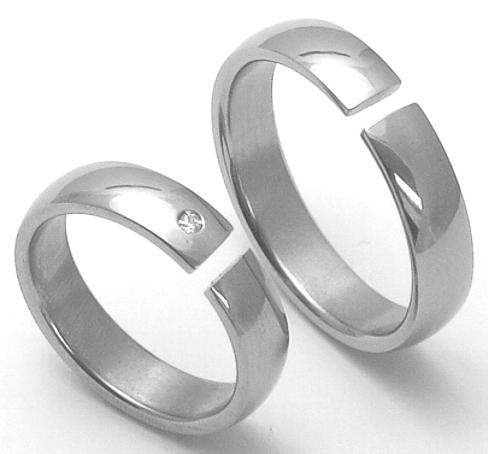 Snubní Titanové prsteny ZERO Collection ttn3302+ttn3301 (Snubní Titanové prsteny ZERO Collection ttn3302+ttn3301)