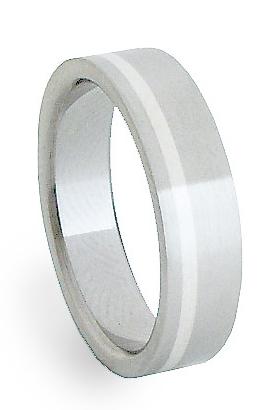 Snubní Ocelový prsten se stříbrem ZAG05200 (Ocelový prsten se stříbrem ZAG05200)