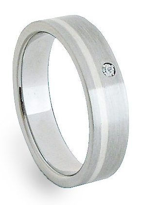 Snubní Ocelový prsten se stříbrem ZAG05202 (Ocelový prsten se stříbrem ZAG05202)