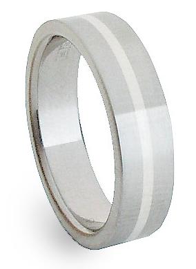 Snubní Ocelový prsten se stříbrem ZAG05400 (Ocelový prsten se stříbrem ZAG05400)