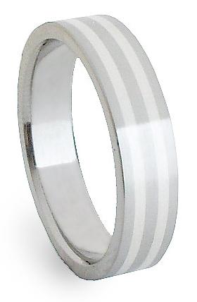 Snubní Ocelový prsten se stříbrem ZAG05800 (Ocelový prsten se stříbrem ZAG05800)