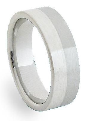 Snubní Ocelový prsten se stříbrem ZAG06300 (Ocelový prsten se stříbrem ZAG06300)