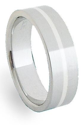 Snubní Ocelový prsten se stříbrem ZAG06400 (Ocelový prsten se stříbrem ZAG06400)