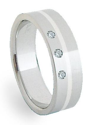 Snubní Ocelový prsten se stříbrem ZAG06450 (Ocelový prsten se stříbrem ZAG06450)