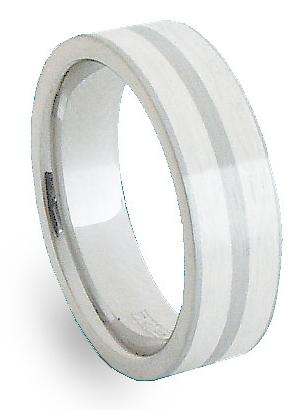 Snubní Ocelový prsten se stříbrem ZAG06600 (Ocelový prsten se stříbrem ZAG06600)
