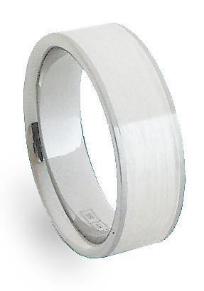 Snubní Ocelový prsten se stříbrem ZAG06700